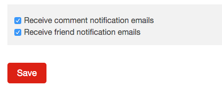 sitewide email notification settings