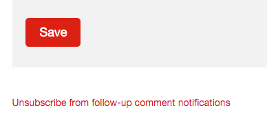unsubscribe from comment notifications