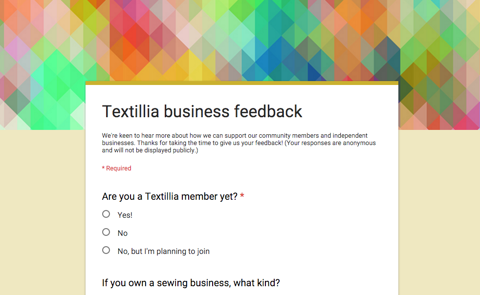 Textillia business survey