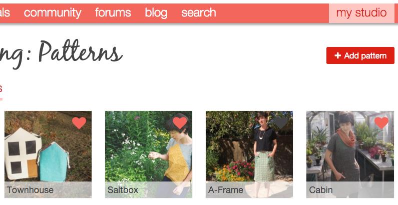 Add Pattern from Designer's Pattern page