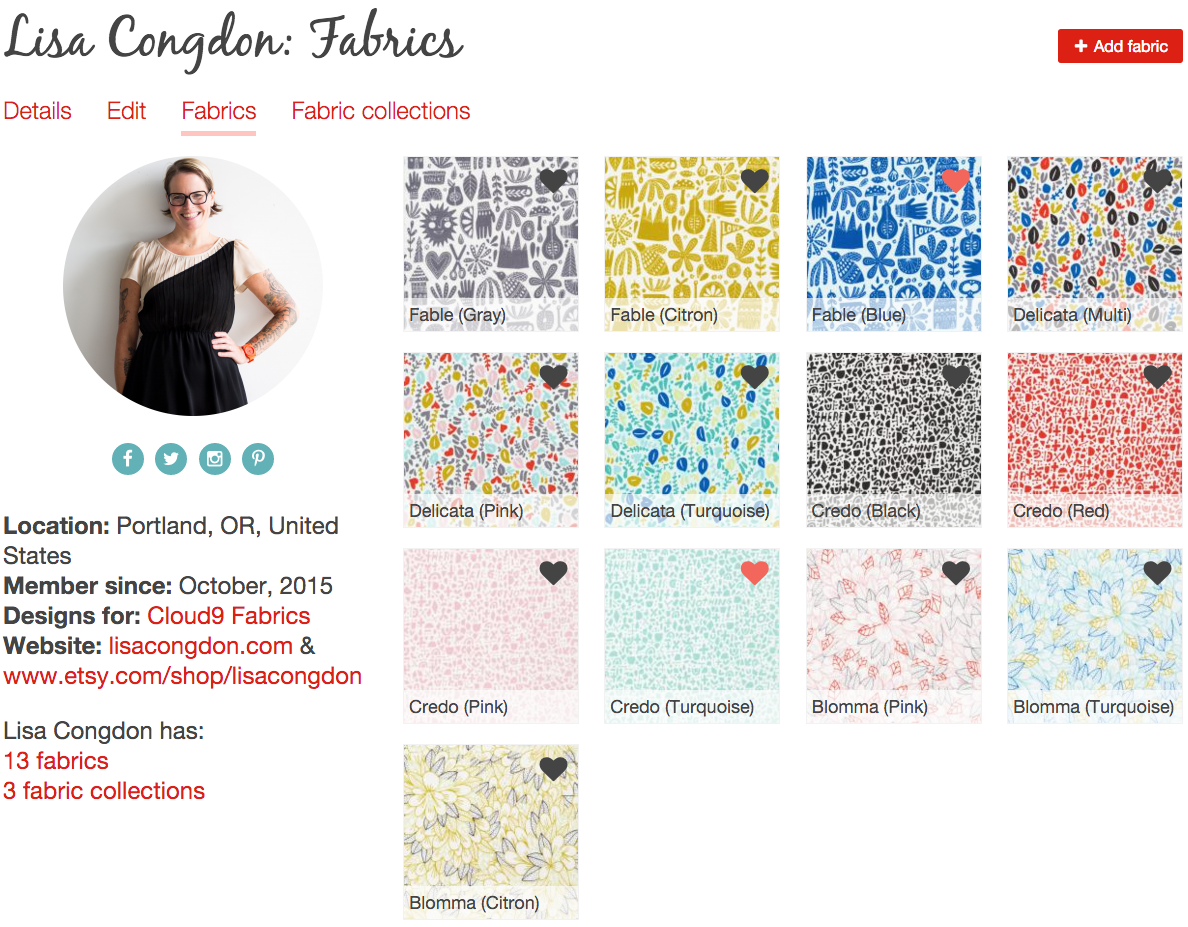 Lisa Congdon fabrics tab