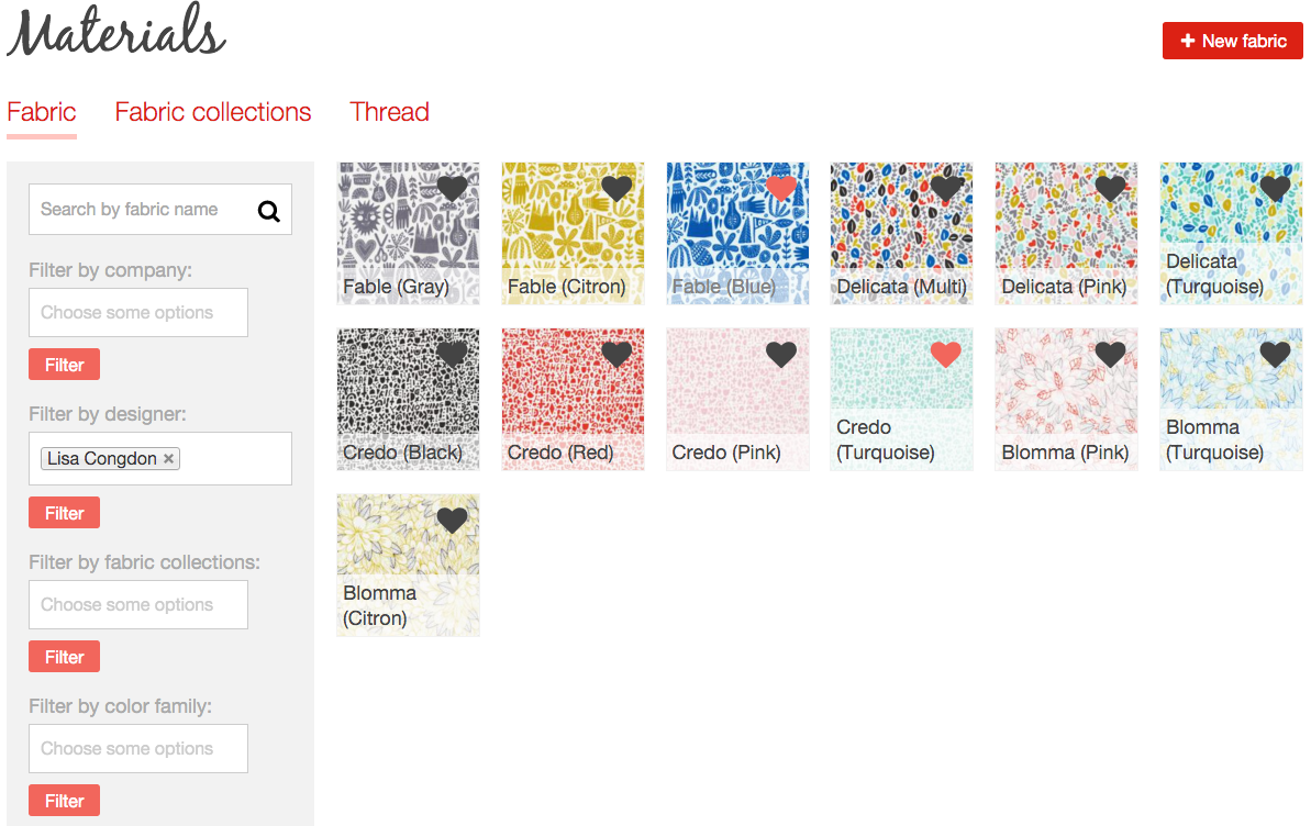 Lisa Congdon fabrics search filter