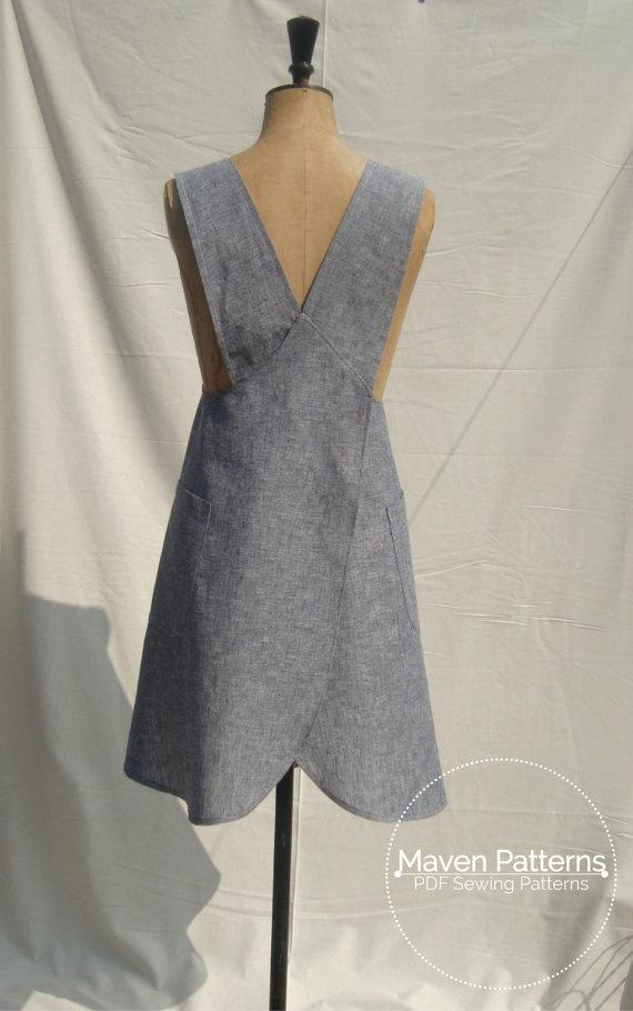 THE MARIA WRAP APRON | Textillia | Online sewing community