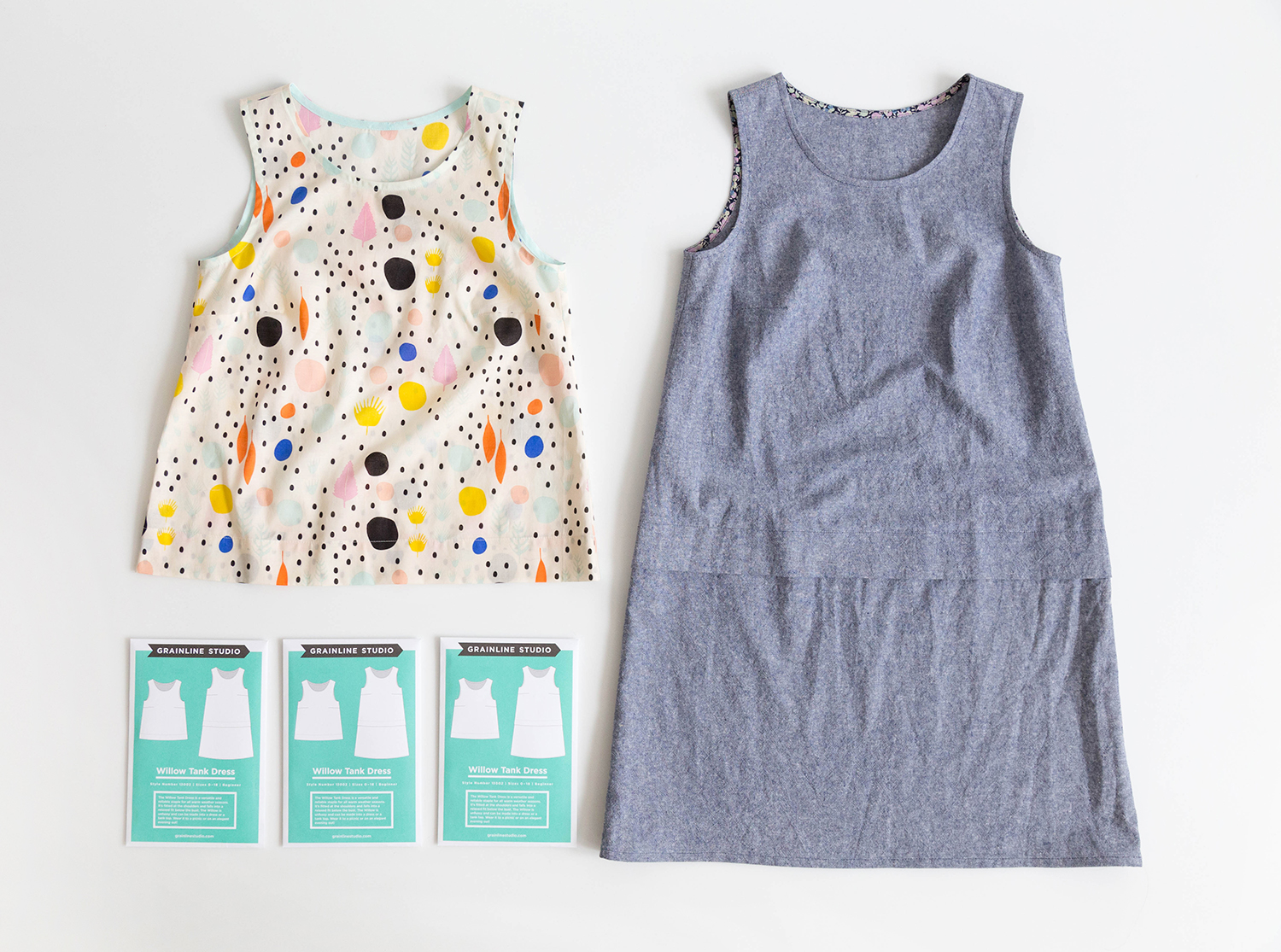 Grainline Willow Tank and Dress sewing pattern