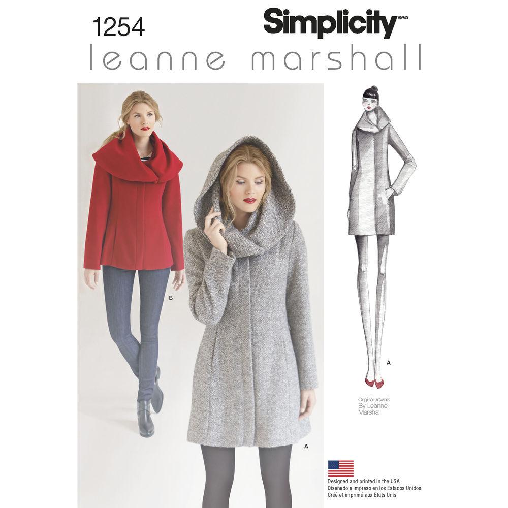 1254 | Misses' Leanne Marshall Easy Lined Coat or Jacket ...