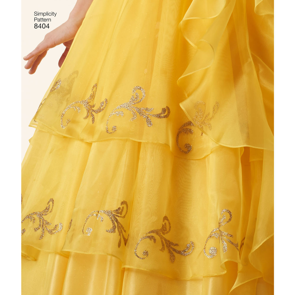 8404 disney beauty and the beast costume for misses