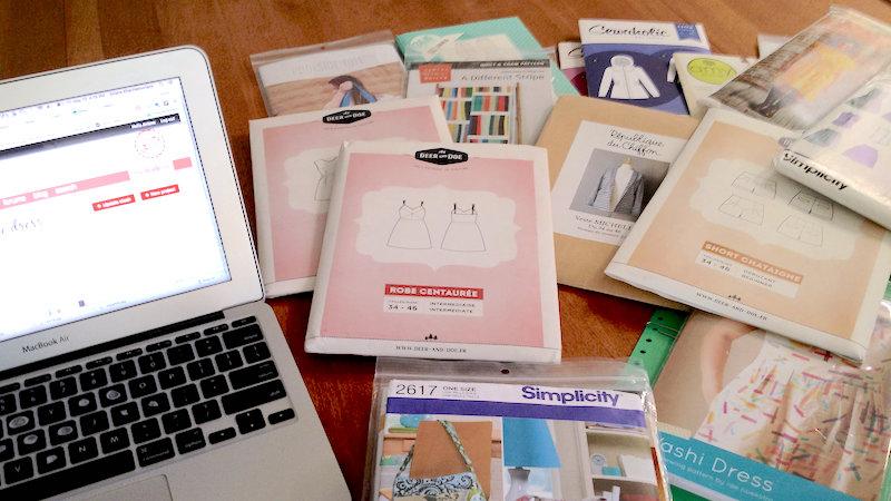 Organizing sewing patterns using Textillia