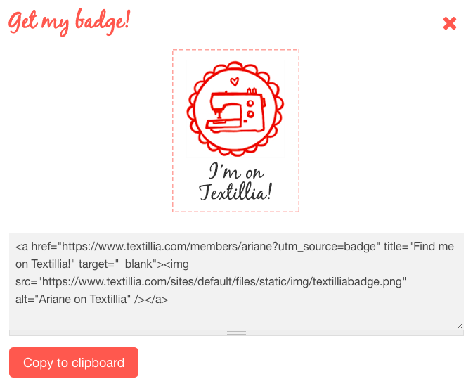 Textillia Badge Generator