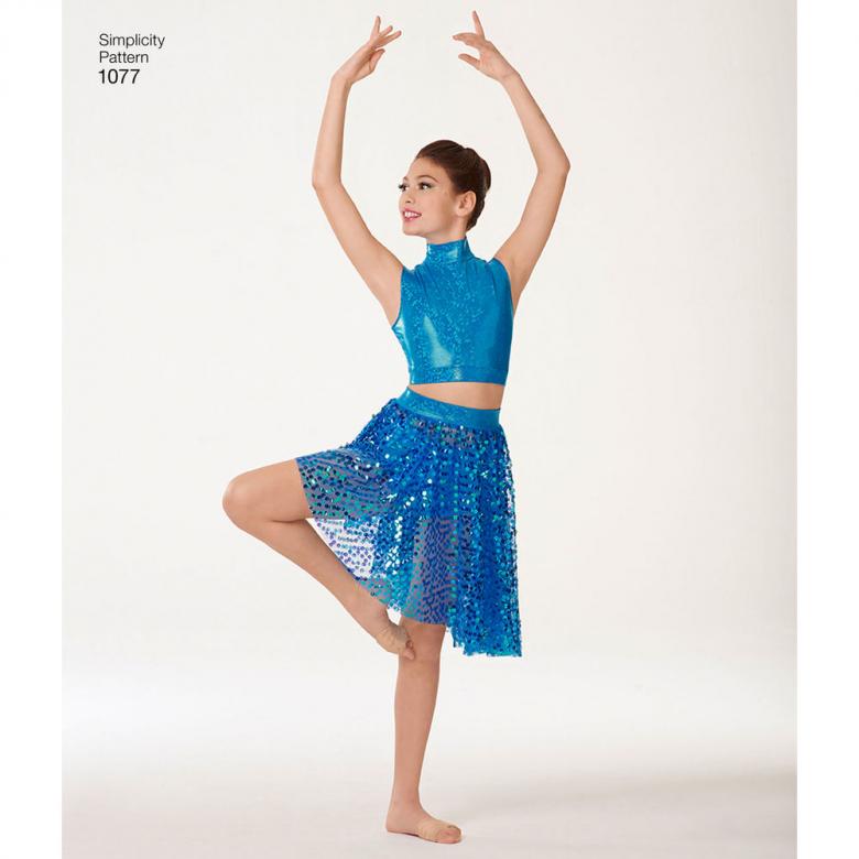 1077 Girls Misses Knit Dancewear Textillia