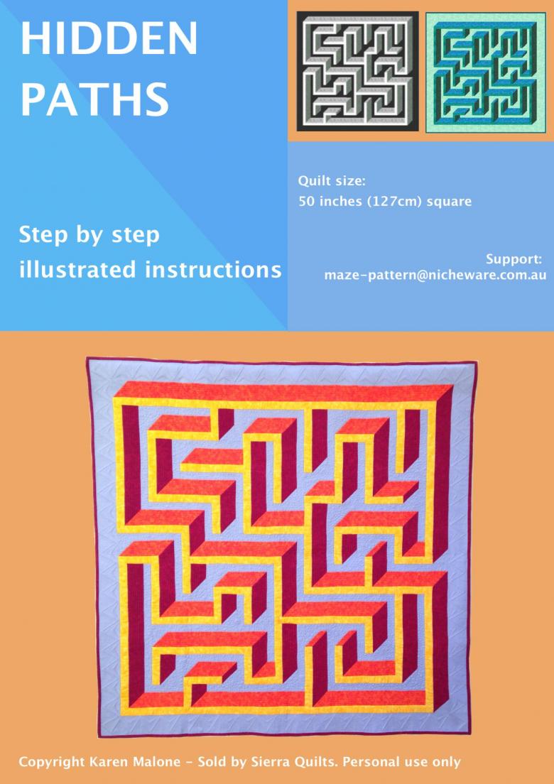 3D Maze Quilt Pattern - Hidden Paths | Textillia