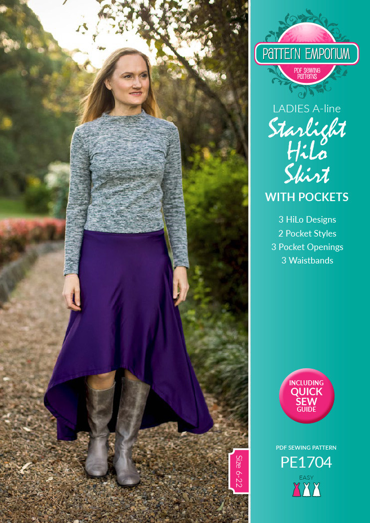 Ladies Starlight HiLo Knit Skirt | Textillia