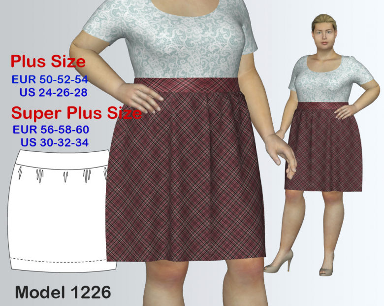 Plus size Bohemian Skirt Sewing Pattern for sizes 24-34 | Textillia