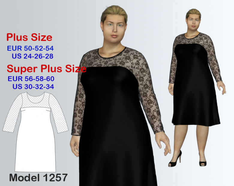 Plus Size Evening Dress Sewing Pattern For Sizes 24 34 Textillia