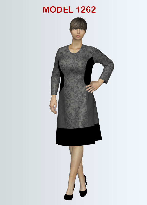Long sleeve Knit Dress Sewing Pattern for sizes 12-22   Textillia