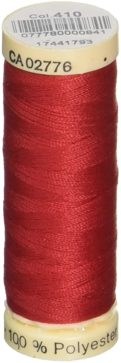 spool of thread in colorway 410 (scarlet)