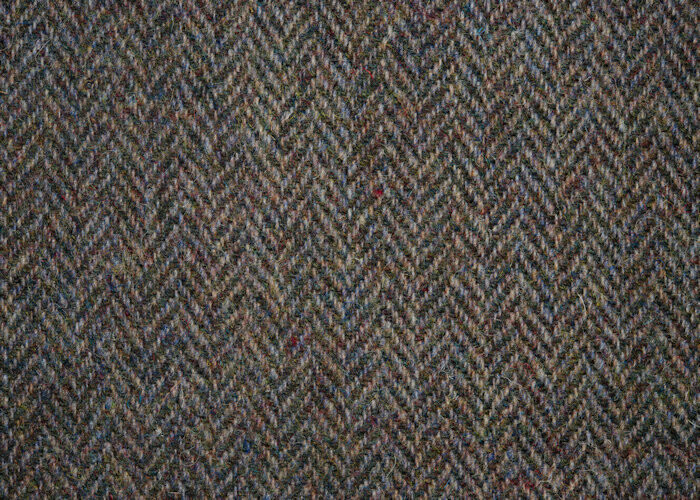 HB61 Harris Tweed Blue/Brown Herringbone
