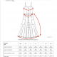 The Jessica dress size chart