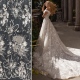 Bridal lace fabric with sequins