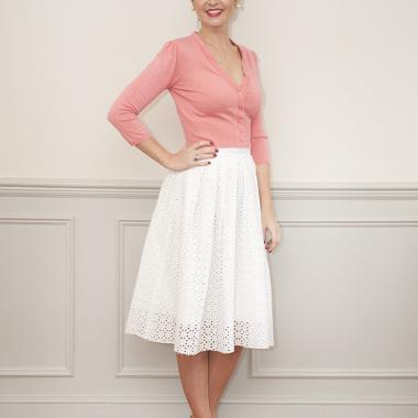 90a1115583d4 Skirts Blue White Spot Rock N Roll Skirt & Scarf Set 1950s 1960s Fancy Dress