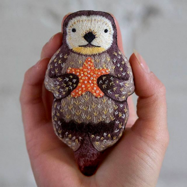 adfac8d0e Otter - Embroidery Kit