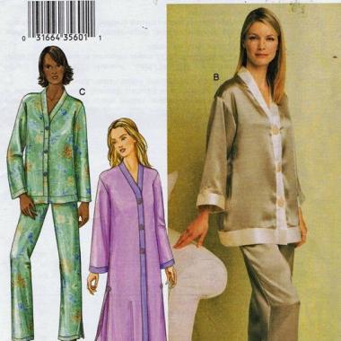 92435b60611b91 7633   Misses'/Misses' Petite Robe, Top and Pants. Vogue Patterns