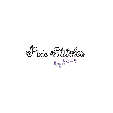 Pixie Stitches by Sway logo black and purplr